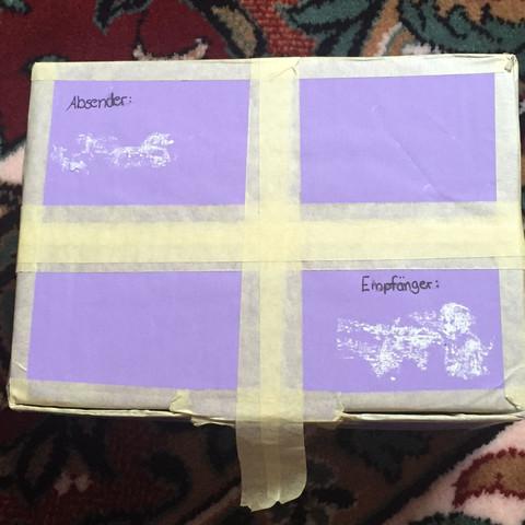 passt der karton f r das verschicken post paket dhl. Black Bedroom Furniture Sets. Home Design Ideas