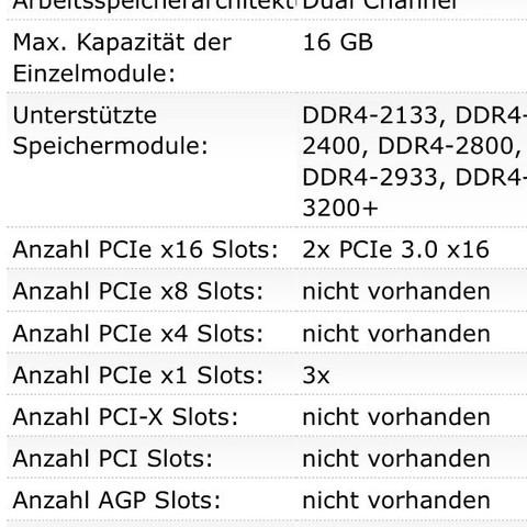 Hier die unterstützen Module  - (PC, Mainboard, RAM)