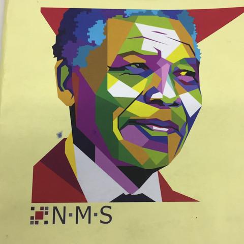 Das ist das Logo. 1 Nelson vong Ding her. - (Schule, Geld, Werbung)