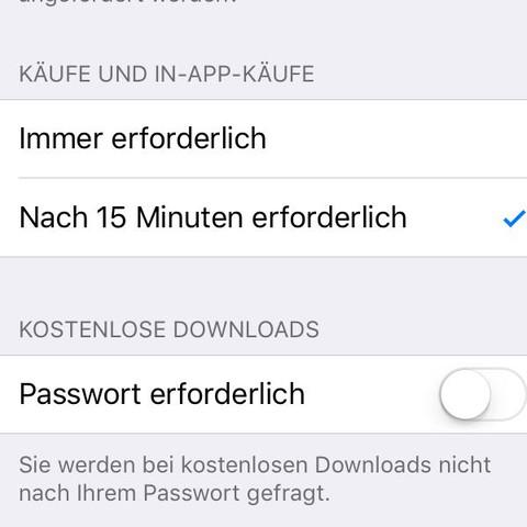 Alle Einstellungen sind so, dass ich das Passwort nicht benötige - (iPhone, Apple, Passwort)
