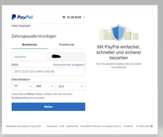 Paypal Bankkonto HinzufГјgen Trotz Bankkonto