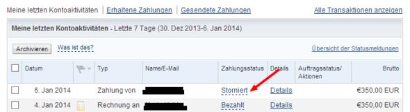 Paypal Transaktion ZurГјckbuchen