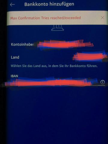 - (PayPal, Bankkonto, iban)