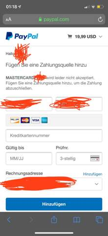 Paypal Kreditkarte Löschen