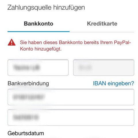 Paypal Neues Bankkonto Hinzufügen