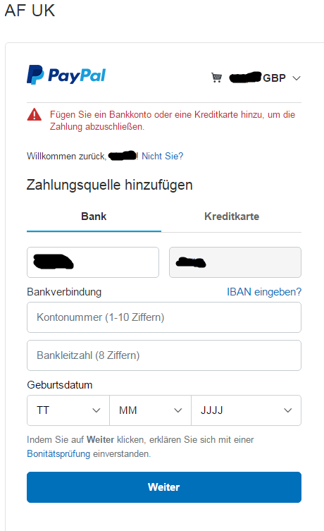 Kann Nicht Mehr Mit Paypal Zahlen