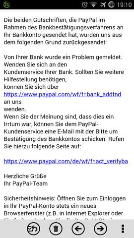 bestätigung paypal konto