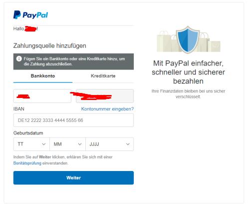 Paypal Konto HinzufГјgen Obwohl Vorhanden