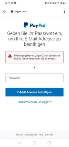 Kommt nicht bestätigungscode sms paypal SMS Code