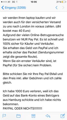 Paypal Geld Zurück Verlangen Hilfe Internet Verkaufen
