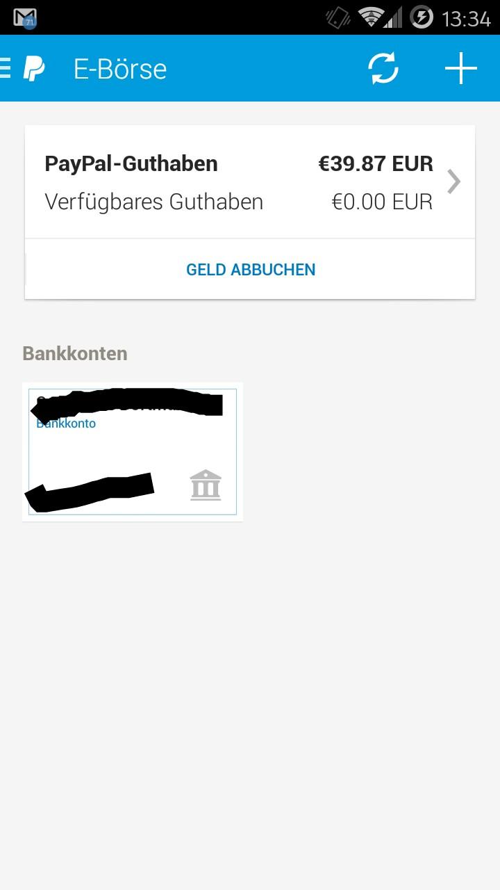 Pay Pal Guthaben