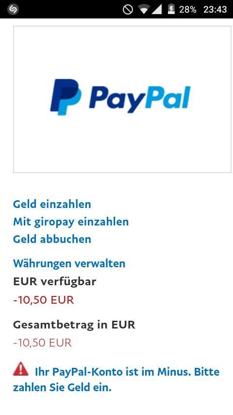 Paypal Minus