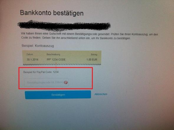 Bankkonto bestätigen paypal