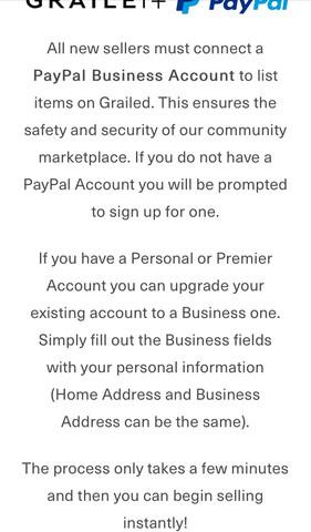 Screenshot Grailed  - (PayPal, verkaufen, Business)