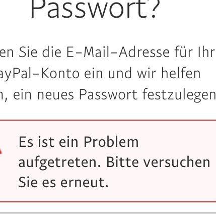 Paypal Konto Gesperrt Passwort Falsch Eingegeben