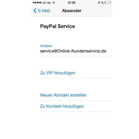 Fake Paypal Konto