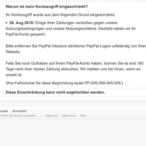 Paypal Konto Gesperrt Wie Lange