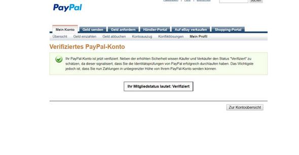 Гјberweisung Mit Paypal Auf Normales Konto