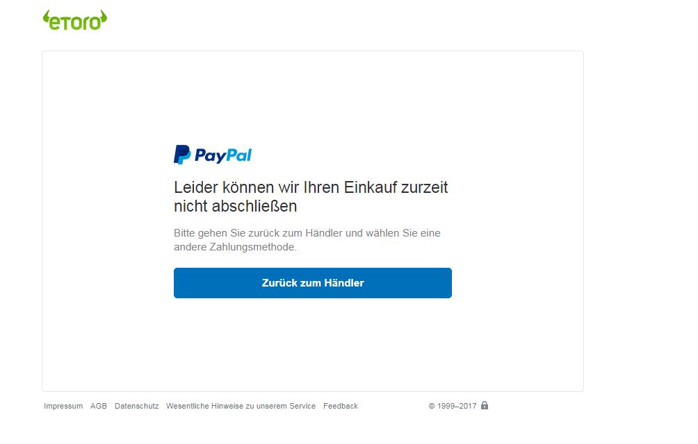 Warum Geht Paypal Nicht