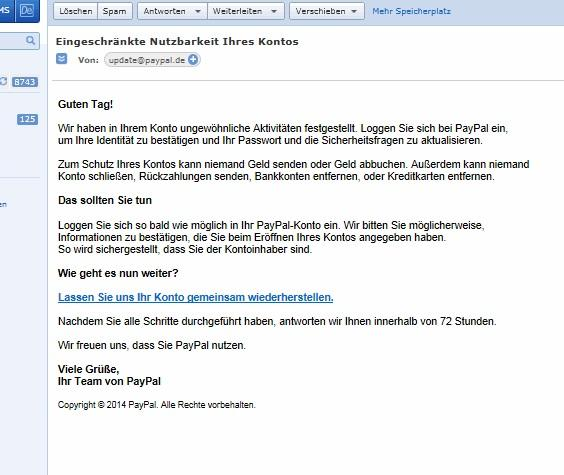 spam - (Internet, PayPal, Betrug)