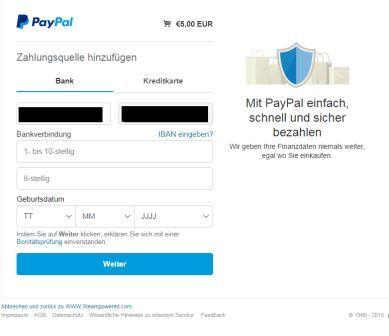 Paypal Möchte Zahlungsquelle Hinzufügen