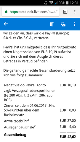E-Mail - (PayPal)