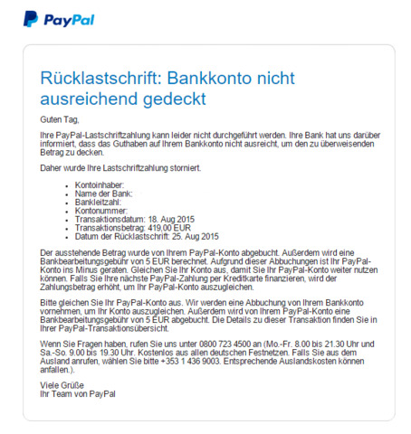 Die E-Mail - (PayPal, Oneplus, Oneplus Two)