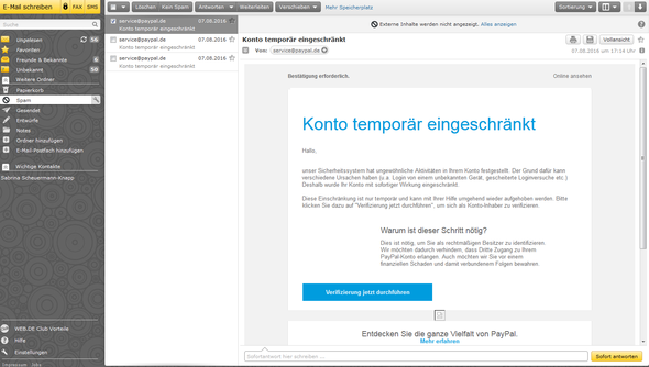 screenshot - (PayPal, Spam, paypalspam)