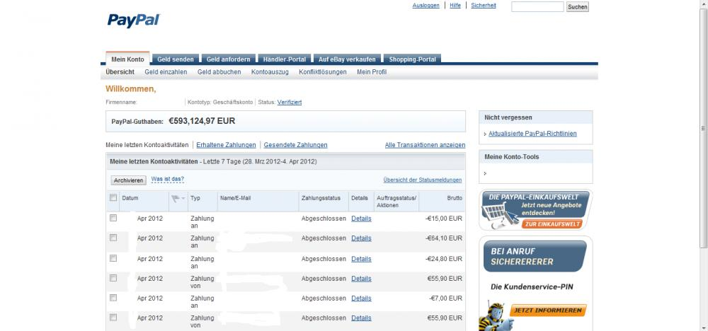 paypal gute frage