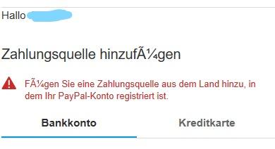 Paypal Will Neues Bankkonto HinzufГјgen