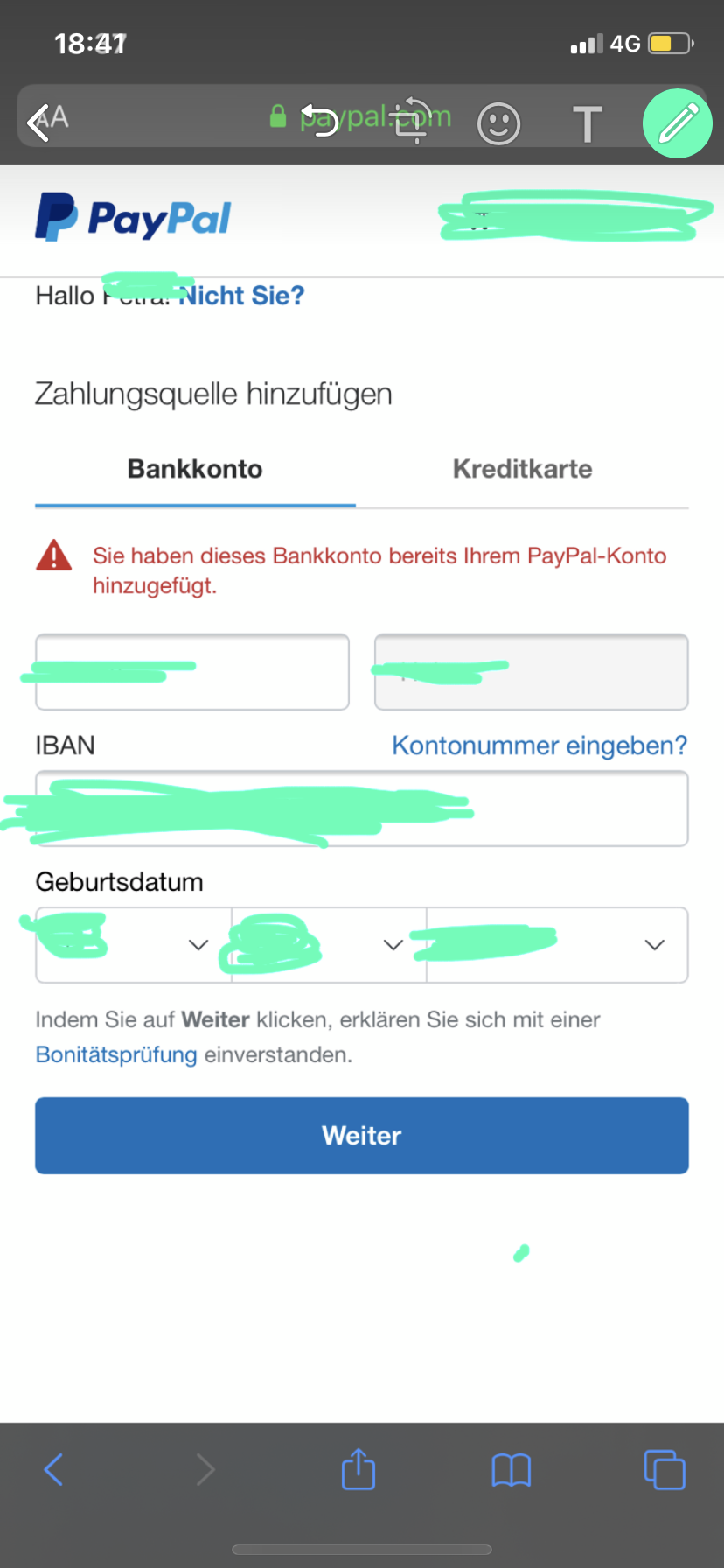 Zahlung An Paypal Konto