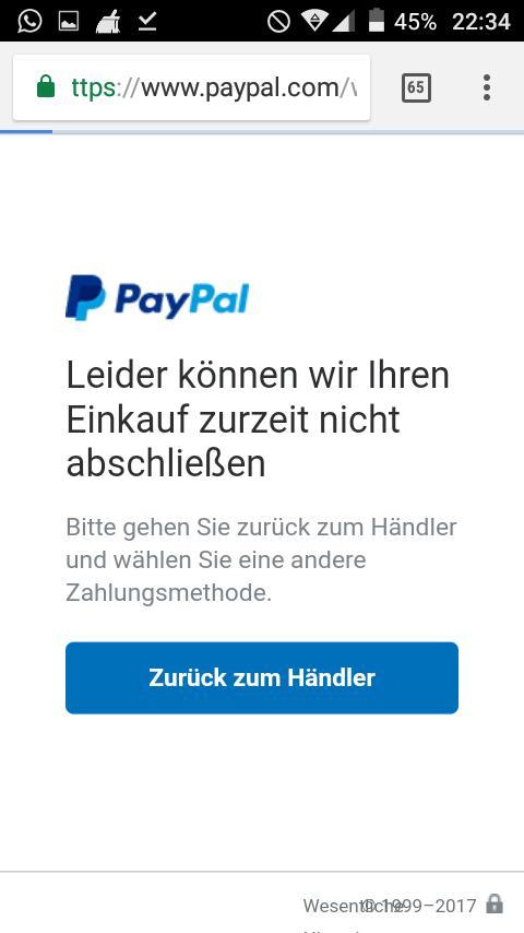 Paypal Zahlung Noch Nicht Akzeptiert