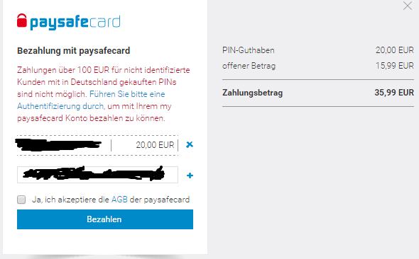 35 Euro Paysafecard
