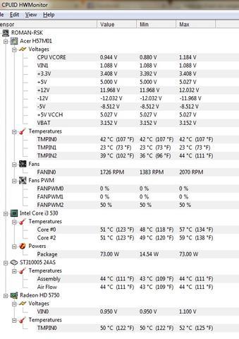 Temperaturen,etc.  - (Fehler, PC-Problem, einfrieren)