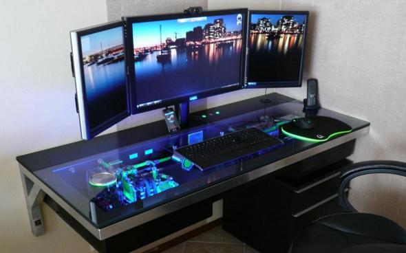 pc geh use im tisch verbaut gibt es einen name f r ein solches geh use gaming. Black Bedroom Furniture Sets. Home Design Ideas
