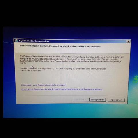 Windows Reparation fehlgeschlagen - (Computer, PC, Technik)