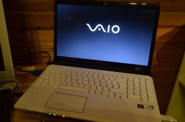 Das Laptop wurde eingeschaltet... - (Computer, PC, Sony)