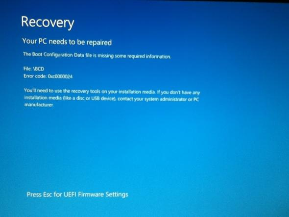 Recovery - (PC, bios setup)