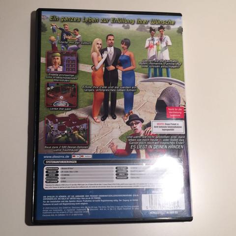 Rückseite - (PC, CD, Die Sims)