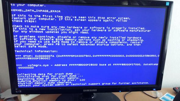 Bluescreen1 - (PC, Absturz, Bluescreen)