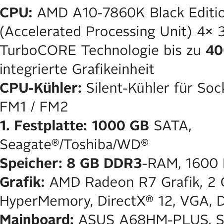 Hier steht alles was im PC verbaut ist - (Computer, PC, Technik)