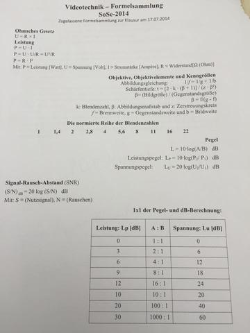 Formelsammlung - (Leistung, Spannung, RGB)