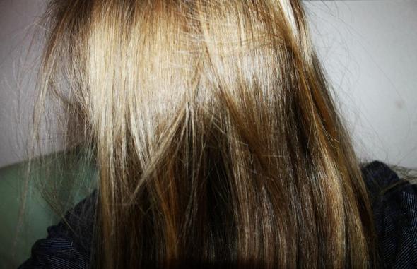 Schokobraun von färben auf blond Von Blond