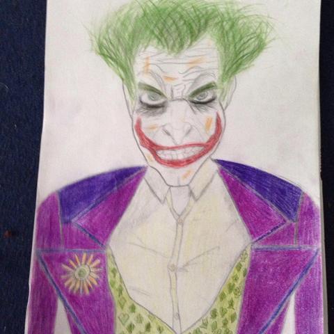 Perfekte Zeichnung (zeichnen, Batman, Joker)