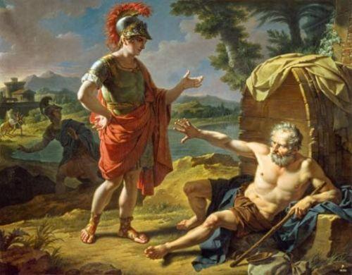 Diogenes in der Tonne - (Bilder, Philosophie, Analyse)