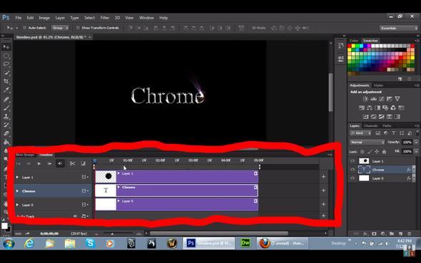 Timeline aus Video - (Photoshop, Adobe, Animation)