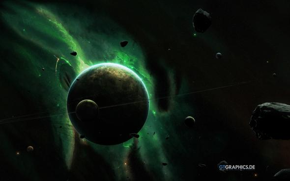 grünes Leuchten - (Photoshop, Bildbearbeitung, Adobe)