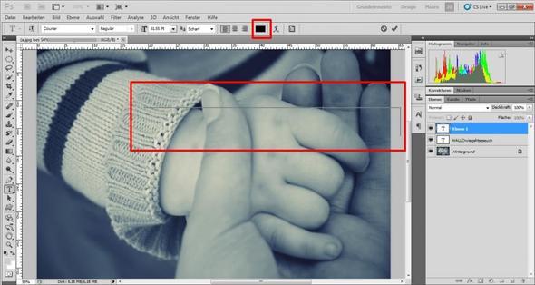 Habe einen Text eingegeben aber es kommt nur das - (Photoshop, cs5)