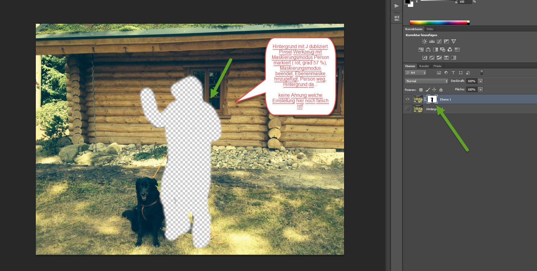 Photoshop CS6 Freistellen im Maskierungsmodus? (Ebenenmaske, PS CS6)