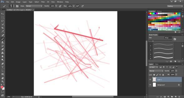 Photoshop CS6 zieht nur noch Linien!